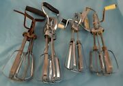 Lot Of 4 Egg Beaters Vintage Kitchen Tools Cookware