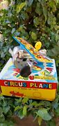 Vintage Circus Plane A Wind Up Toy In Boxopen Box