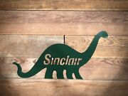 48andrdquo Sinclair Dino Sign Dinosaur Gas Pump Station Oil Can Not Antique Porcelain