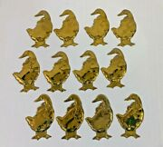 Department 56 Brass Goose Christmas Ornaments Lot Of 12 Geese Ducks Vintage
