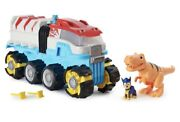 Nib Paw Patrol Dino Rescue Patroller W/ Chase And T-rex, In Hand