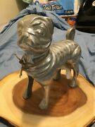Vintage One Of A Kind Life Size Pug - Detailed And Unique