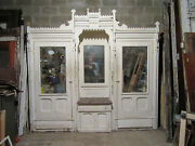 Antique Carved Walnut Closet Front Built In Armoire 112 X 105 Salvage