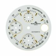 Baume And Mercier Geneve 29 Mm Sticks Chronograph White Color Watch Dial