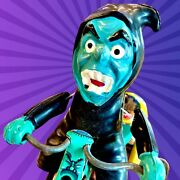 🟢 Marx Vintage 1964 Nutty Mad Witch Monster Sci-fi Figure Toy Man Cave
