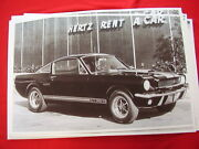 1966 Ford Mustang Shelby Gt350 Hertz Rent A Car 11 X 17 Photo Picture