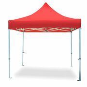 Commercial Pop Up Canopy Tent 10x10 Instant Shed Red Gazebo 5 Adjustable Height