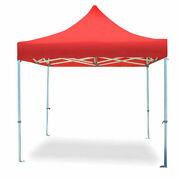 Commercial Pop Up Canopy Tent 10x10 Instant Gazebo Red 5 Height Positions 50mm