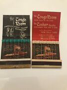 2 Rare And Vintage Matchbooks Sahara Hotel Nevada Feature Matches The Congo Room