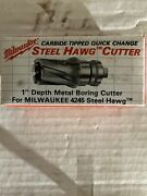 """Milwaukee Quick Change Tang Drive Steel Hawg Cutter 15/16"""" New In Bx"""