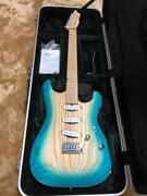 saito S-622 Natural Blue 6 String Electric Guitar W/ Hard Case Limited Edition