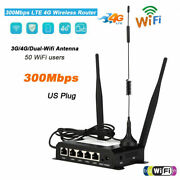 4g Lte Usb Wireless Dual Wifi Antenna Router Mobile Hotspot 300mbps 802.11b/g/n