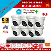 Hikvision 8ch 12mp Nvr 7608ni-i2/8p 2385g1-i 4k Ir Ip Camera P2p Home Security