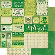 Calendar Collection Double-sided Cardstock 12x12 March Sentimen 738944700600