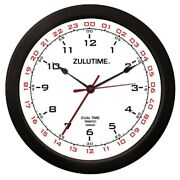 Trintec 14 12 And 24 Hour Military Time Swl Zulu Time 24hr White Clock - Zt14-2