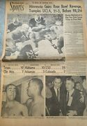 Minnesota Gophers Win The Rose Bowl 1/2/1962 Los Angeles Times Newspaper