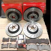 Fits Mercedes C63 4.0 S205 Estate 14-19 Front Rear Drilled Apec Discs And Pads