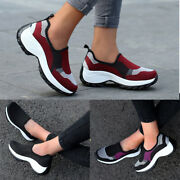 ❤️ Womens Slip On Athletic Sneakers Sports Walking Breathable Running Shoes Size