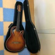 Ovation Celebrity Deluxe Electric Acoustic Guitar W/hard Case Shipped From Japan