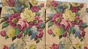 Vintage Barkcloth Drapes-huge Florals-more Than 40 Years Old-purple Yellow Green