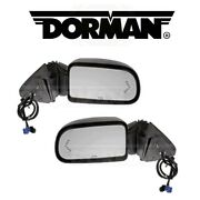 For Chevy Silverado Gmc Sierra Pair Set Of Left And Right Door Mirrors Dorman