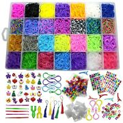 Band Refill Kit Rubber Includes 10850 Pieces 28 Loom Bands 600 S Clip 200 Beads