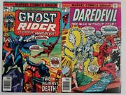Daredevil 138 And Ghost Rider 201976 Marveldeathand039s Headcrossover