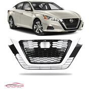 Fit Nissan Altima 2019-2021 Front Upper Bumper Grille Grill Assembly Chrome Usa