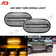 2pcs Sequential Amber Led Side Marker Lights For Suzuki Jimny Mazda Chevy Cruze