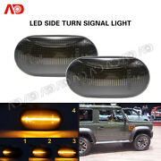 2x Sequential Led Side Marker Lights Smoked For Suzuki Jimny Mazda Chevy Cruze