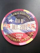 2001 Golden Nugget Casino Laughlin, Nv. 4th 5.00 Chip Great For Any Collection