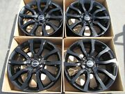 20 Land Rover Sport Gloss Black Wheels Rims Set 4 Alloys Caps Oem Original