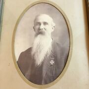 Rare Confederate Civil War Soldier Photo Wearing Southern Cross Of Honor Scv Udc