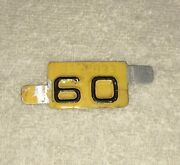 1960 License Plate Tab - Vintage 60 Auto Tag Topper Accessory Chevy Ford Harley
