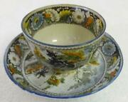 Rare Antique Salopian Pearlware Cup And Saucer Stag Pattern Ca.1810