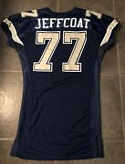 Dallas Cowboys Jim Jeffcoat Game Worn Jersey 52 Long Stretch Sleeves By Russell
