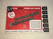 Nos Roof Headliner Fishing Pole Holder - Vintage Interior Accessory Rod Carrier
