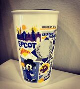 New Starbucks Disney Parks Mickey Epcot Tumbler Coffee Mug Cup 2018 Sold Out