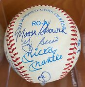 👍ny Yankees Greats Signed Ball Mantle Dimaggio Berra Ford And More Psa/dna👍