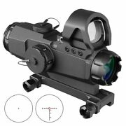 4x24 Scopes Tactical Rifle Scope Lens Red Dot Mark 4 High Accuracy Multi-range