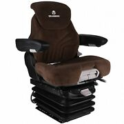 Grammer Air Suspension Seat For Kubota Tractor Brown Fabric