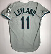 1997/1998 Florida Marlins Jim Leyland Game Issued Road Jersey Size 44
