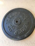 Weider Barbell 50 Lb Weight Plate 1 Standard - Single 50lb Collectible Piece