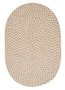 Confetti Natural Soft Chenille Oval Round Braided Country Cottage Rugs