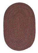 Hayward Heathered Berry Wool Blend Country Farmhouse Oval Round Braided Rug