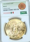 1944 Mexico Gold 50 Pesos G50p Ngc Ms 63 Beautiful Bright Luster Scarce Date
