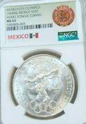1968 Mexico S25p Olympics Center Ring Low Snake Tongue Curved Ngc Ms 63 Scarce