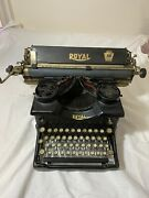 Collectible Typewriter Royal 10 Early 14-588637 All Original 2 Side Window