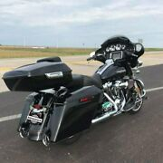 Advan Vivid Black Chopped Tour Pack Luggage Trunk For Harley Touring 1997+