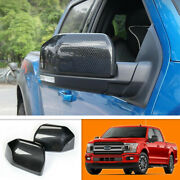 For Ford F150 2015-2020 Carbon Fiber Rear View Side Mirror Cover Overlays Trim